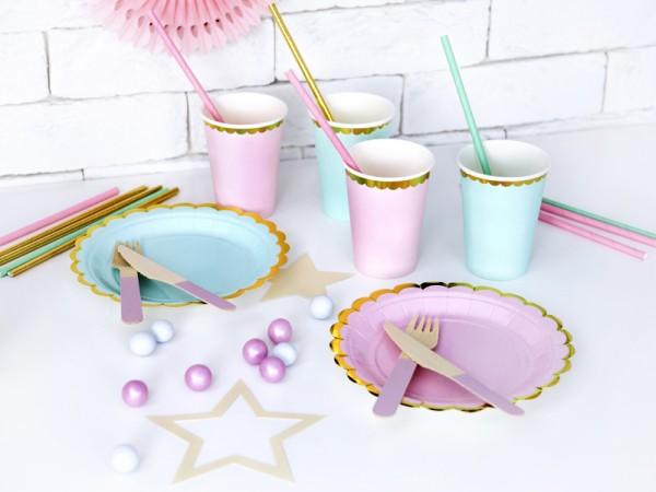 6 Candy Party Pappteller mint 18cm 3