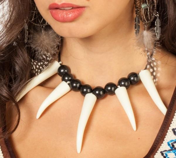 Steinzeit Perlen Knochen Kette Für Damen