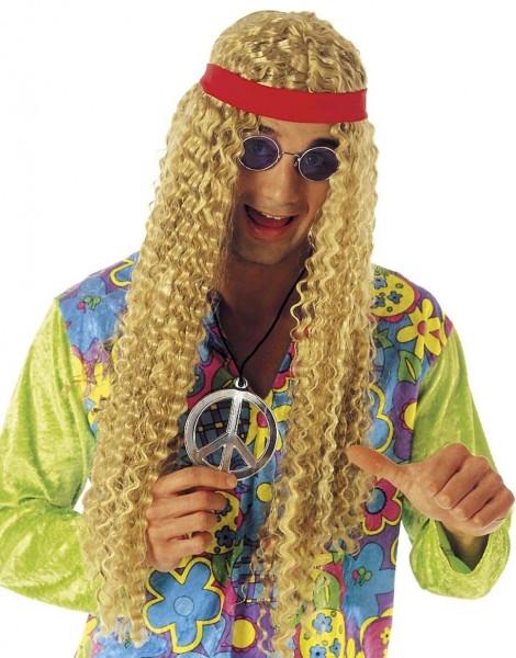 Blonde Hippie Langhaarperücke Mit Stirnband