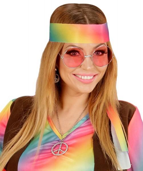 70er-Jahre Hippiebrille Pink 4