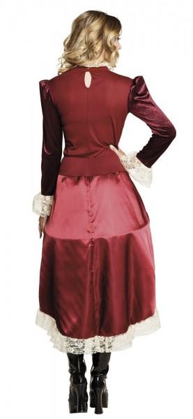 Vestido steampunk burdeos noble