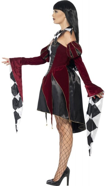 Elegante Harlekinlady Gothica Damenkostüm