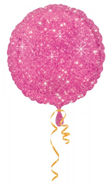 Folienballon Edler Glitzer Diamant in Pink