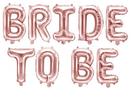 Rose gold bride to be foil balloon 3.4m