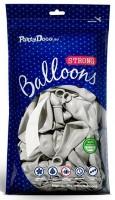 10 Partystar metallic Ballons silber 27cm