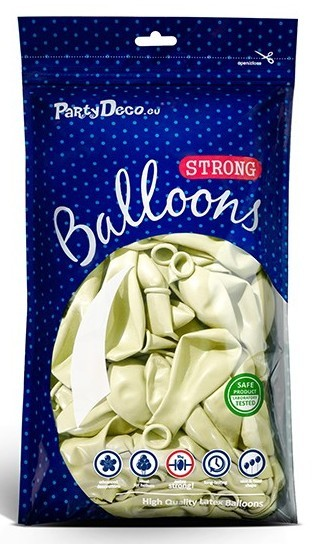 100 Partystar metallic Ballons creme 23cm