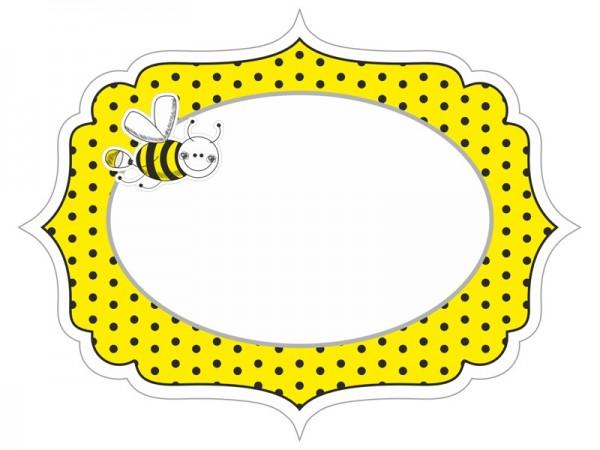 6 étiquettes de nom d'abeilles