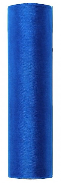 Tissu Organza Julie bleu roi 9m x 16cm