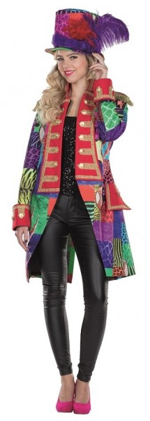 Colorful patched tailcoat for women