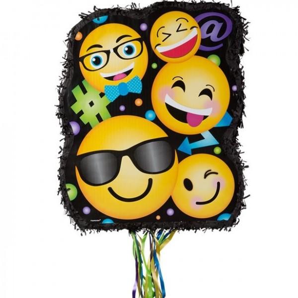 Tren piñata sonriendo emojis 45cm