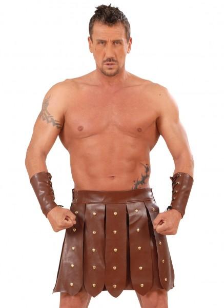 Jupe gladiateur en similicuir Claudius