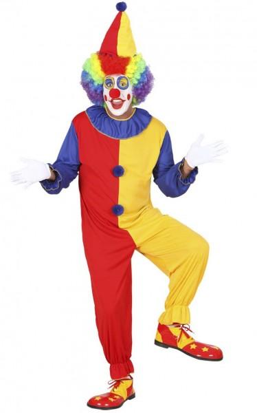 Vrolijk kleurrijk clownkostuum