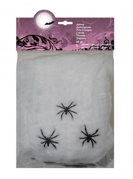 Creepy Spider Night Deko Spinnennetz Weiß 20g