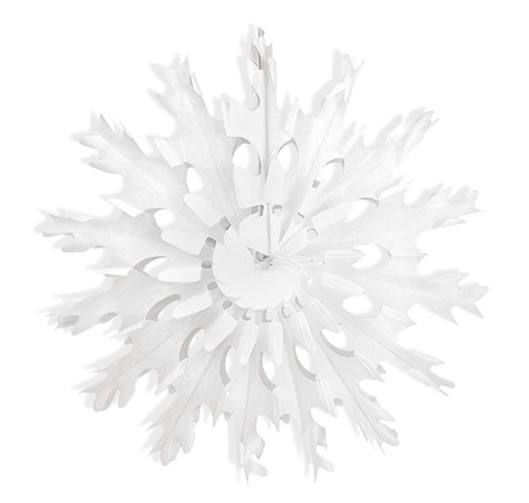 Paper rosette in snowflake design 37cm