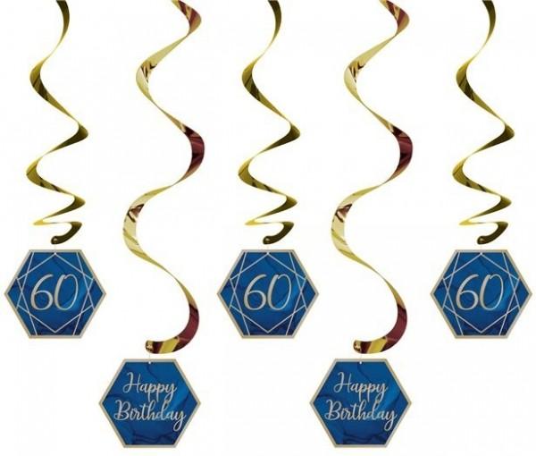 5 Luxurious 60th Birthday Spiralhänger 99cm
