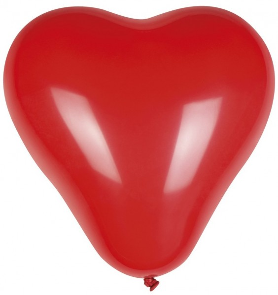 6 ballons coeur rouge Just you 25cm