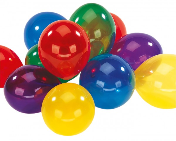 Set of 10 colorful crystal balloons