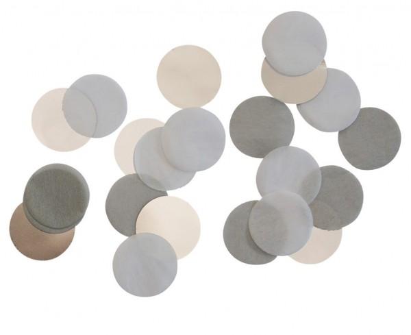 Glanzende zilveren confetti 15g
