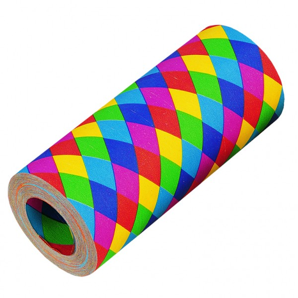 1 Rolle Jumbo Luftschlange Regenbogen Parade