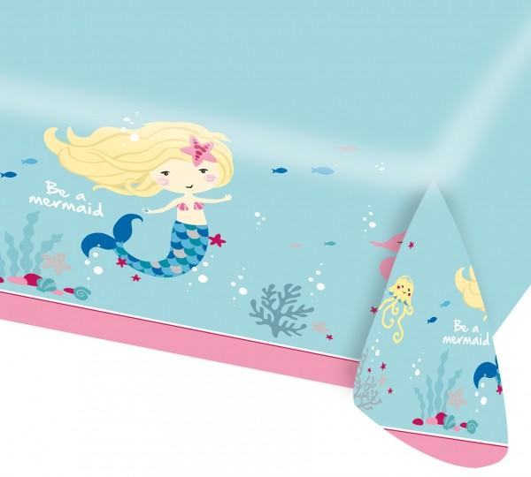 Papiertischdecke Sei eine Meerjungfrau