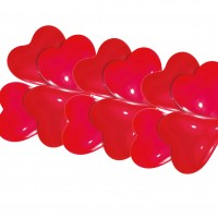 10 Herzballons Harmony rot 20cm