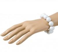 Bracelet de perles blanches