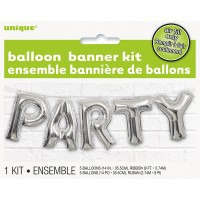Party Folienballon Girlande Silber Celebration