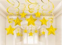 Funkelnde Sternwirbel Hängedekoration Stardust Gold