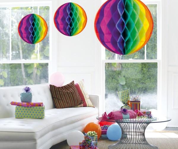Bola de panal de colores 50cm