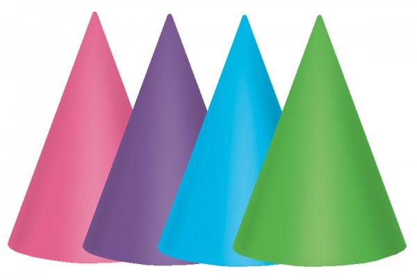 12 gorros de fiesta de cumpleaños 17,7cm