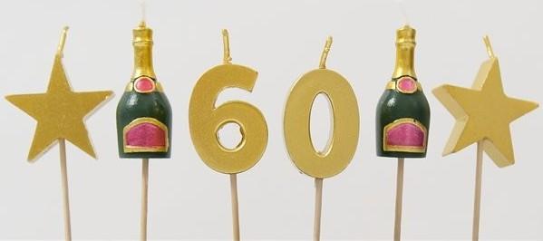 Bougies gâteau 60 grandes années