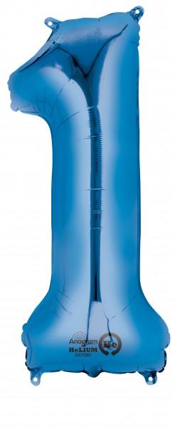 Zahlenballon 1 Blau 86cm