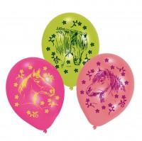 6 Friedvolle Pferde Luftballons 23 cm