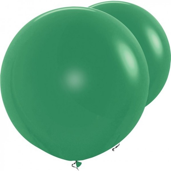 2 ballons XL vert foncé 91cm