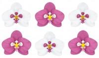 6 Papierblumen Tischdeko Orchidee
