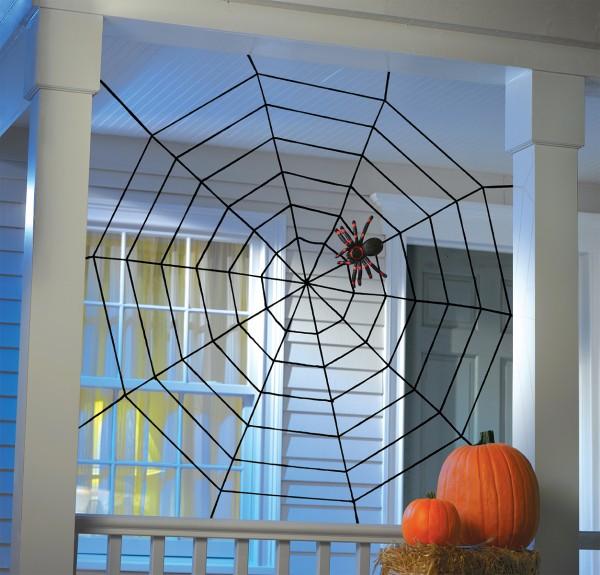 Halloween XXL touw spinnenweb zwart 1,50 x 1,50 m