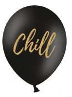 50 globos negros Chill 30 cm