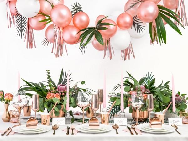 100 globos en rosa dorado Partystar 12cm