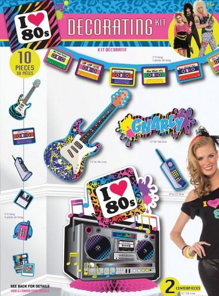 10-Teiliges 80er Jahre Party Deko Set 1