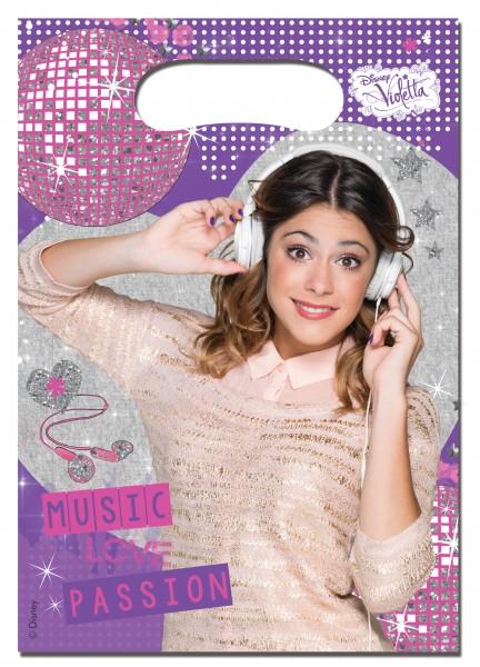 6 Violetta Gold Edditions Partytüten Disney