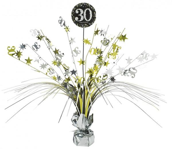 Golden 30th Birthday Tischfontäne 46cm