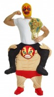 Mysterion Wrestler Huckepack Kostüm