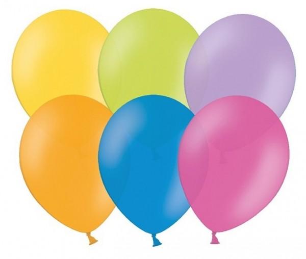 10 ballons étoiles de fête colorés 30cm