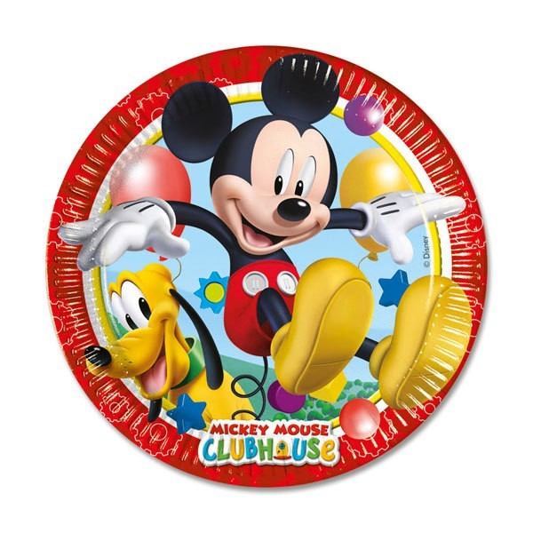 8 Mickeys Clubhouse Pappteller 23cm