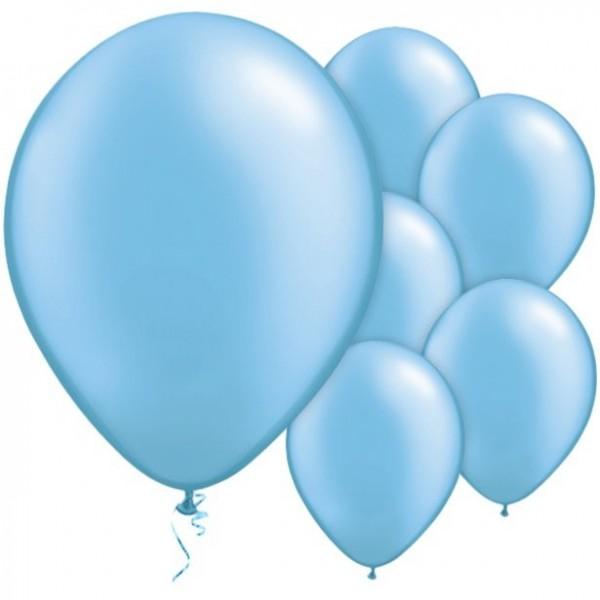 25 globos azul bebé Pasión 28cm