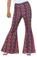 Flower Power Hippie Hose für Damen