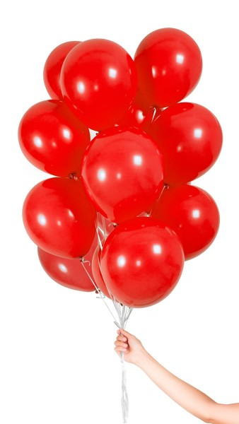 30 balloons in red 23cm