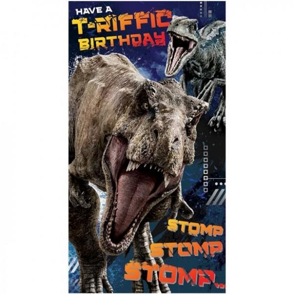 Jurassic World Geburtstagskarte 22,5 x 12,5cm
