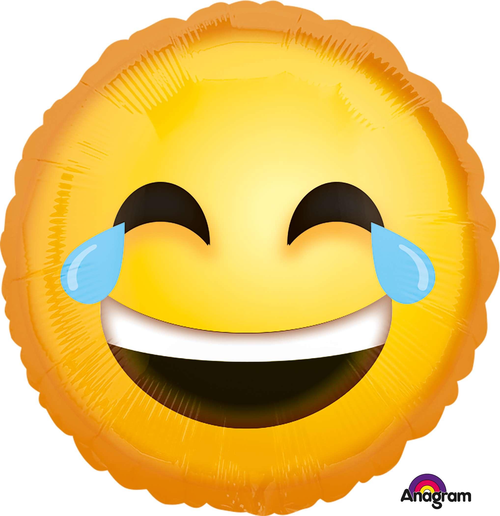 lachendes smiley mit tränen