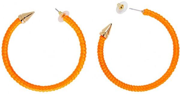 Neon Orangene Creolen Ohrringe